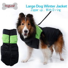 Factory prices high quality large dog cozy zip-up dog winter coat warm pet dog vest clothes