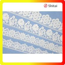 Best Quality for Garment Lace Fabric Various chemical white lace mesh supply to Netherlands Exporter