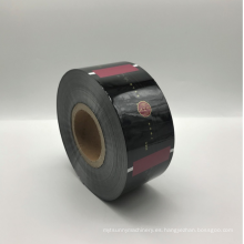 Película de plástico de rasgado fácil de papel de aluminio impreso a medida