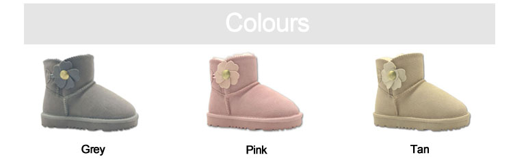 Little Girls Winter Ankle Boots Fleece Lining