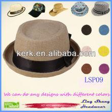 Элегантная шляпа шляпы Bowknot Акции 100% соломенной шляпы, LSP09