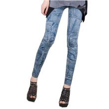 Pantalon Imprimé Bleu Pantalon Leggings