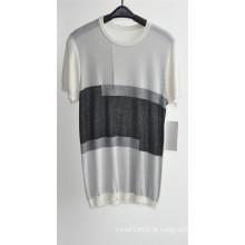 2016new Patterned algodão viscose manga curta homens camisola