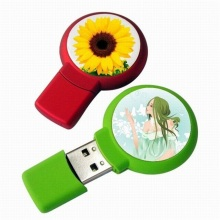 Atacado Mini epóxi Circular com tema Usb Flash Drive