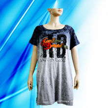 100% Cotton Lady′s Allover Print Nightdress