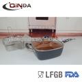 4pcs Kupfer Chef Quadratpfanne mit Glasdeckel, Fry Korb, Dampfbügelstation