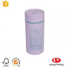White paper tube box with CMYK printing