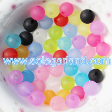 6-20MM Acrylic Spacer Beads Frosted Round Chunky Ball Beads