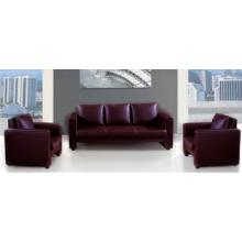 Новый простой современный коричневый кожаный офисный диван