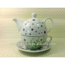 Popular Porcelain One Person Tea Set, ceramic tea set