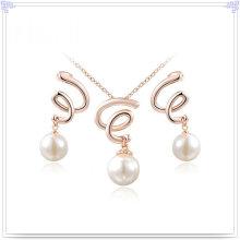 Joyas de perlas accesorios de moda joyería de aleación conjunto (ajs174)