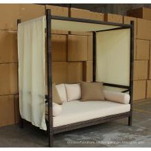 Rota al aire libre jardín salón cama con dosel