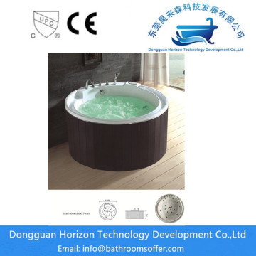 Round whirlpool tub acrylic bathtub