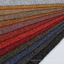 Custom color textiles poly rayon  spandex rib stretch polyester tejidos con lurex knit tessuti fabric and textiles for clothing
