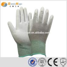 Sunnyhope résistant à la coupe 13 Gauge Gants en fibre de carbone gris recouvert
