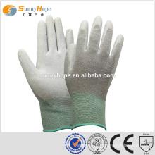 Sunnyhope cut resistant 13 Gauge Carbon Fiber grey pu coated gloves