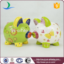 Promotional hand-painted ceramic piggy banks