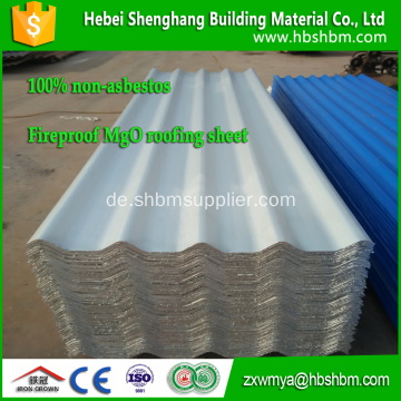 Anti-Aging Film MgO Corrugated Roofing Sheet