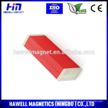 AlNiCo bar magnets with red printing