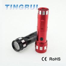 Venta caliente de aluminio negro de color rojo mini 14 Led linterna