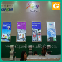 Indoor billboard banners colored plastic sheet lighting