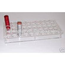 Organisateur de rouge à lèvres acrylique transparent