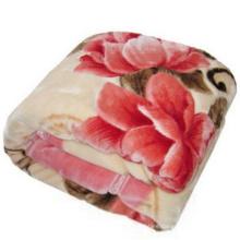 100% Polyester Mink Blanket, Supersoft Raschel/ Circular Blanket