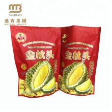 Compound material reach food standard stand up plastic zipper bag