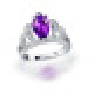 Hecho a mano 1.80CT Pear Cut Natural Purple Amethyst Crown Anillos 925 Sterling Silver para mujeres joyería fina de compromiso