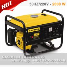 ventas calientes 2 kw generador de gasolina portátil con 100% de alambre de cobre