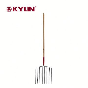 Las herramientas baratas de la granja del jardín de la agricultura forjaron la bifurcación del acero con la manija larga