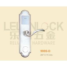 Serrure de porte matérielle de carte de type de Digital d'alliage de zinc de haute catégorie avec la poignée de niveau, serrure d'hôtel