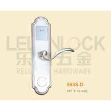 High Class Zinc Alloy Material Digital Type Card Door Lock With Level Handle, Hotel Lock