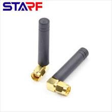 STARF 4.5cm length 2dbi 315Mhz 433Mhz 90degree SMA Male Rubber Duck Antenna.