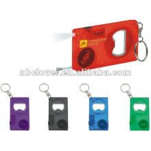 Geführtes Bandmaß keychain mit Flaschenöffnerfunktion