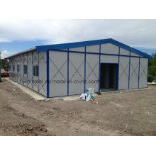 Bâtiment résidentiel préfabriqué résidentiel à l'intérieur de l'environnement