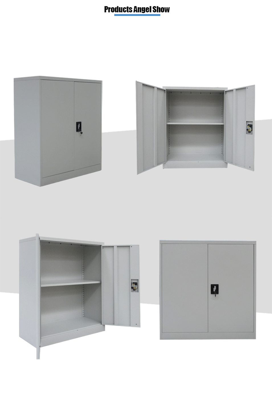 steel low storage cabinet