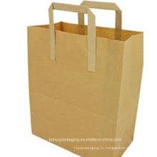 Бумажный пакет для покупок с использованием вторичной бумаги