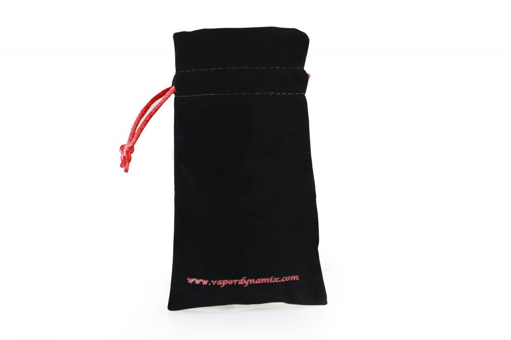 Black Velvet Drawstring Cosmetic Pouch Bag