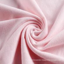 Custom pink jersey spandex polyester knitting fabric