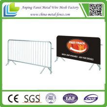 Barrière de contrôle de la foule de sécurité galvanisée pour vente chaude