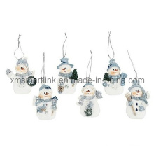 Polyresin Snowman Hanging Ornament, Xmas Decor