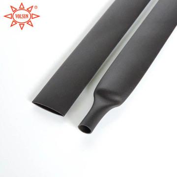Tube thermorétractable doublé d'adhésif noir de haute température de 8mm
