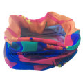 Custom Made Polyester Microfiber Elastic Customized Logo Printed Multifunctional Sports Buff Bandana Scarf