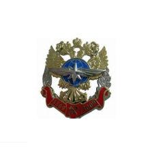 Insignia de seguridad militar de la insignia del poli metálico hueco (GZHY-KA-025)