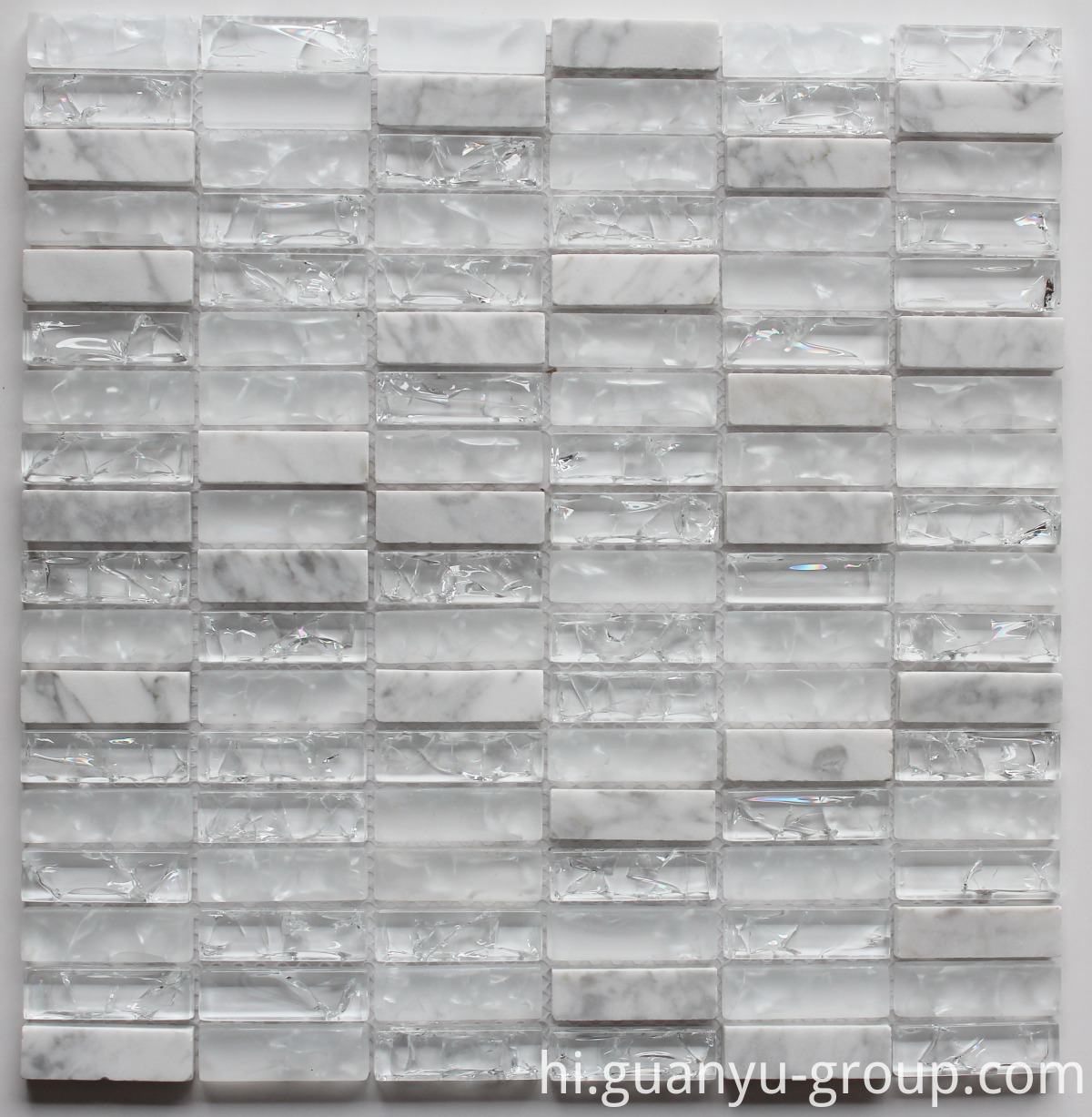 Cracked Glass And Marble Mosaic BL8501