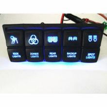 12V Blue Rocker Switch Bumper LED Light Bar 4WD 4X4 Vehicle Car Offroad