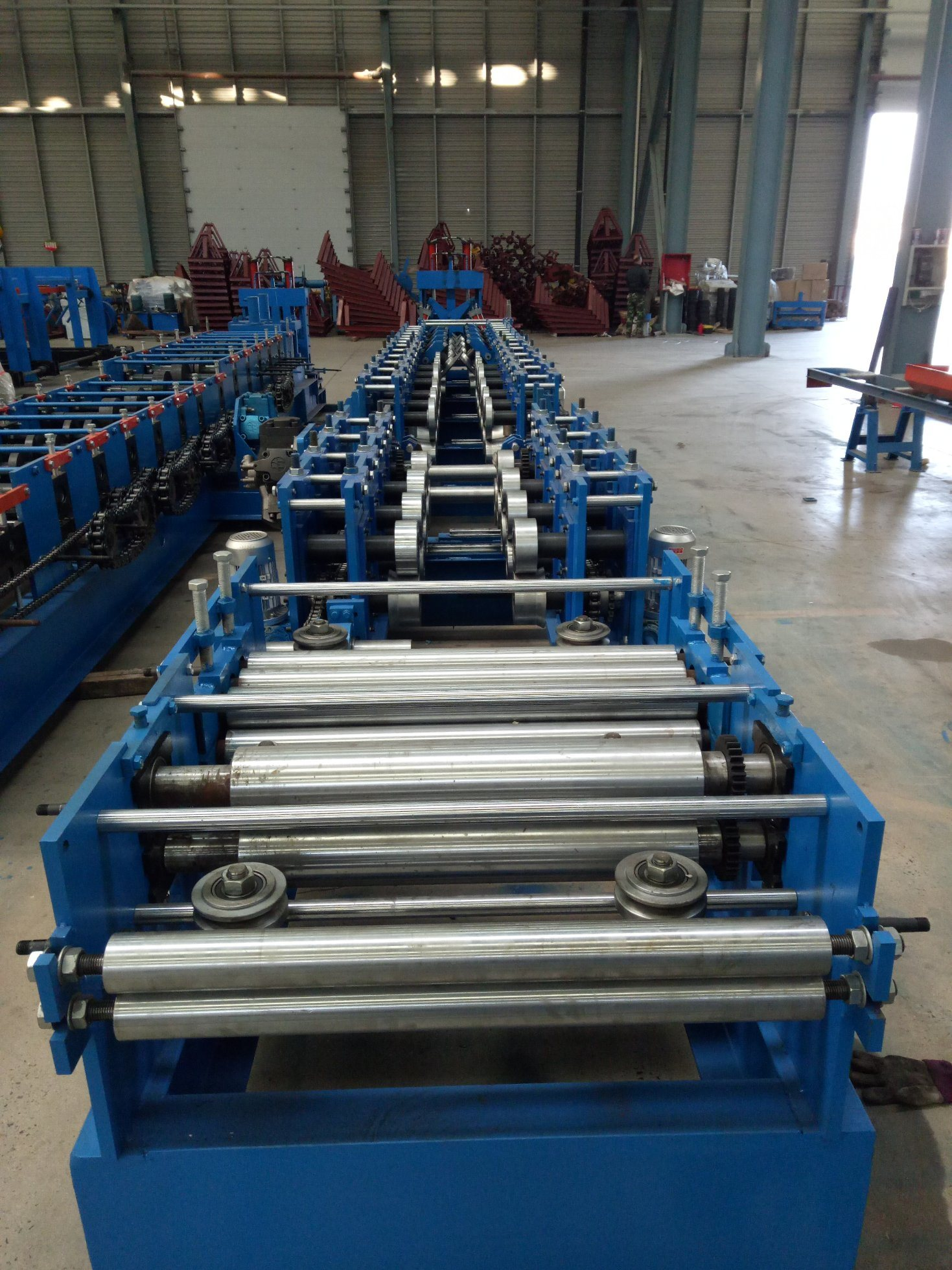 Cee purlin steel roll membentuk mesin