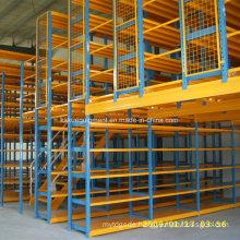 Metal Multi-Tier Shelf for Industrial Warehouse Storage