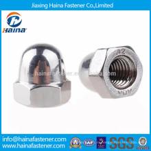 Сделано в Китае DIN1587 из нержавеющей стали с шестигранной гайкой